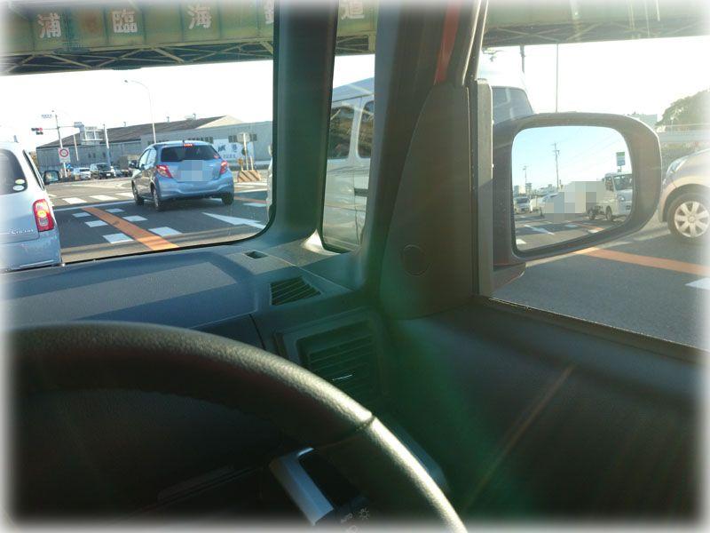 ウェイクの運転席からの眺め